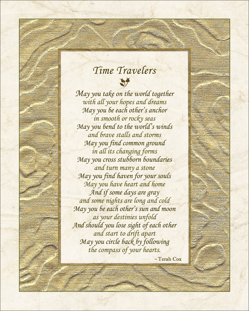 Time Travelers Wedding Poem By Terah Cox Times still succeed the former. terah cox